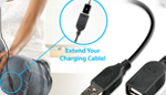Naztech USB 2.0 Extension Cable - Extend Your Reach!