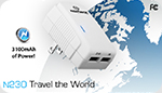 iPhone & Micro USB World Charger  3.1A, Dual USB, 150+ Countries!