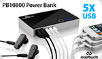 5 USB Power Bank  Charge 5 Devices On-the-Go!